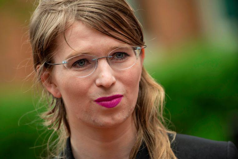 Chelsea Manning in mei 2019.  Beeld AFP