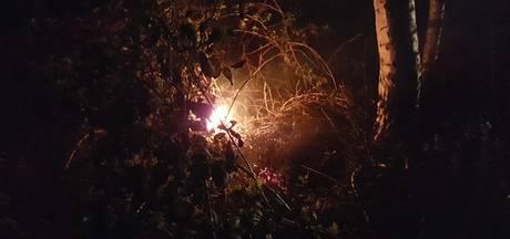 Brand in moestuintje in Hengelo