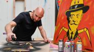 Jeroen Buytaert brengt Franz Courtens tot leven op stencils