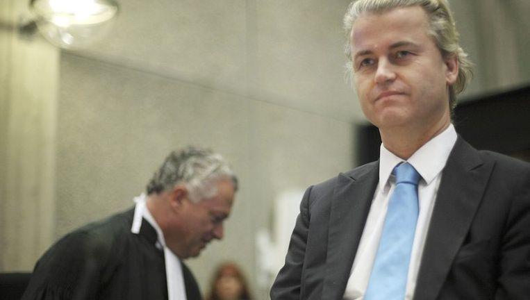 Het OM vindt dat Wilders met sommige uitspraken oproept tot discriminatie van moslims, maar hij is hiervoor niet strafbaar. Foto ANP Beeld