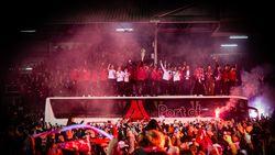 Antwerp-spelers krijgen heldenonthaal op de Bosuil
