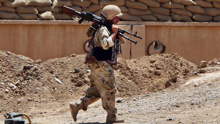 Een Koerdische peshmerga-strijder.