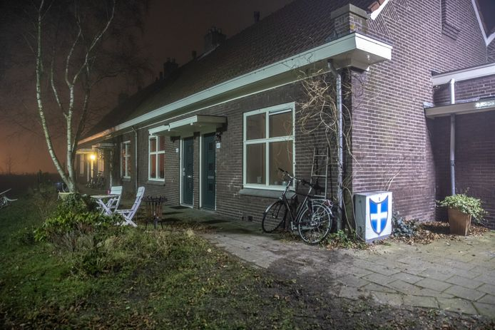 De plek waar Henk Wolters zwaargewond is gevonden.