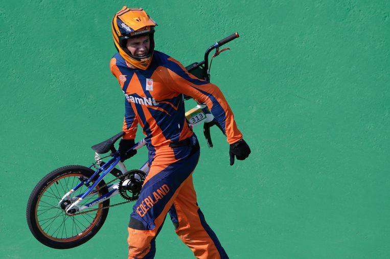 Niek Kimmann is net gevallen tijdens de Spelen van Rio in 2016. Beeld EPA