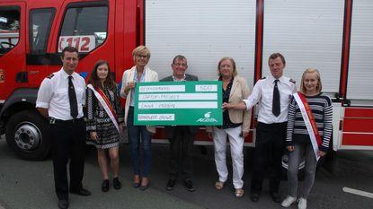 Teledienst krijgt 500 euro van brandweer
