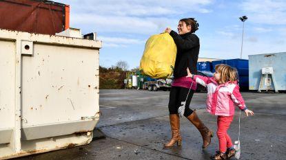Tijdelijk gele huisvuilzakken welkom in containerparken