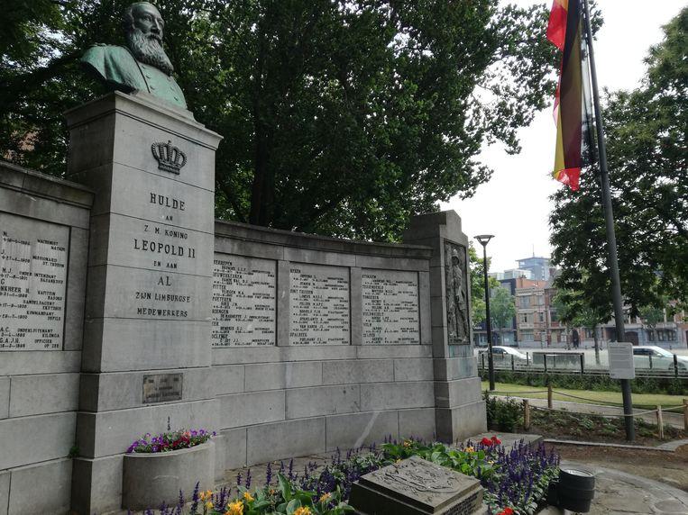 Het Leopold II-monument in Hasselt.