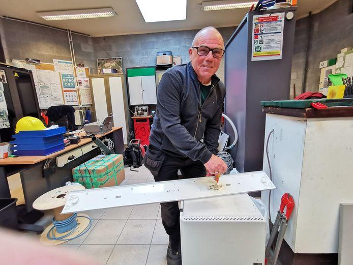 Francis Desmet is van alle markten thuis en dat heeft ook te maken met de verschillende jobs die hij deed voor hij naar het GO! technisch atheneum kwam.