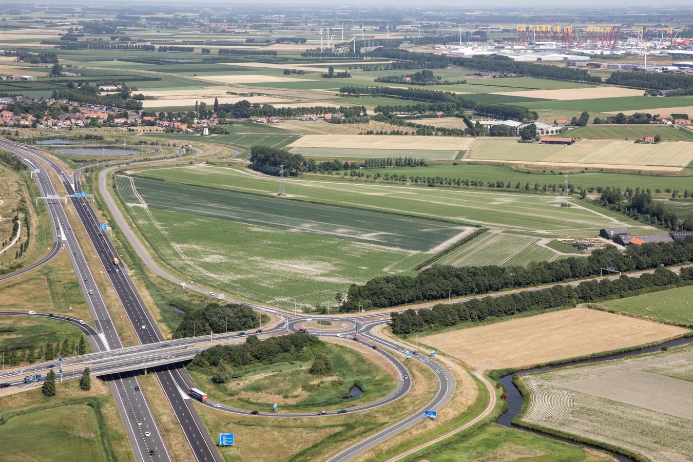 Het gebied aan de Trekdijk bij Nieuw- en Sint Joosland ligt langs de A58, tussen de Sloeweg-Noord en het dorp.