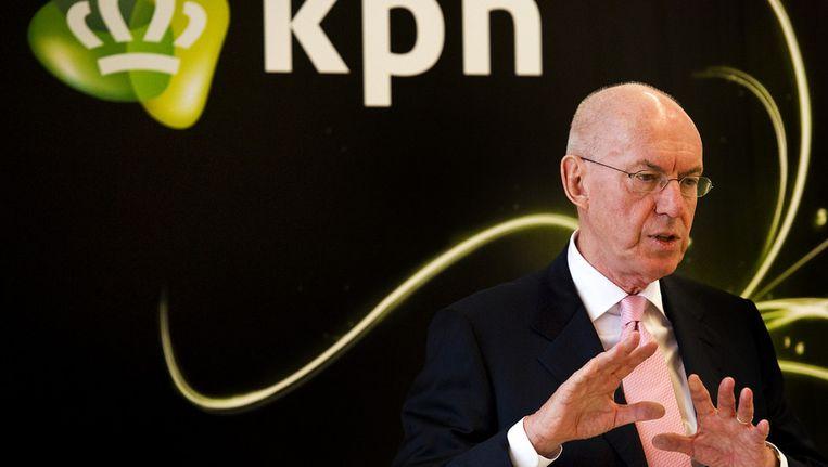 Scheepbouwer in zijn functie als voorzitter van de raad van bestuur van KPN in januari 2011. Beeld ANP