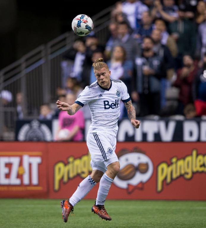 Marcel de Jong in actie voor Vancouver Whitecaps.