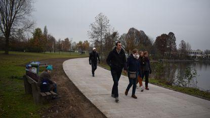 Nieuwe verharde wandelpaden Puyenbroeck bewijzen meteen dienst