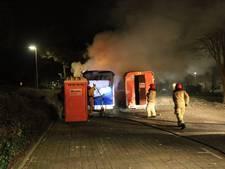 Brand in keet in Helmond
