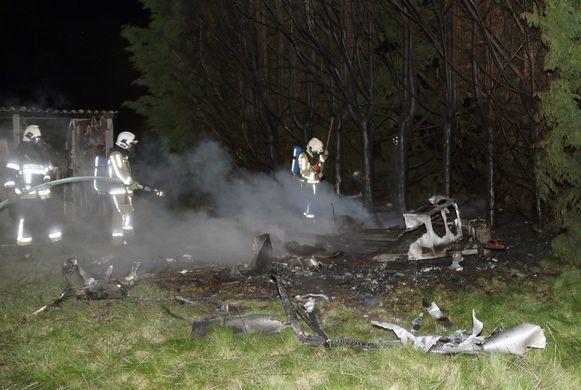 De brandweer vond twee verschillende brandhaarden, wat wijst op brandstichting.