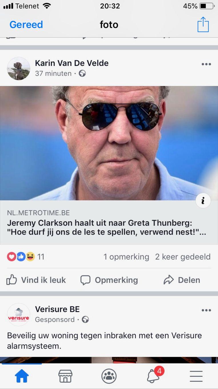 """""""Blijkbaar vindt mevrouw Vandevelde het nodig om deze bagger op Facebook te verspreiden"""", reageert Vlaams Parlementslid en  het Limburgse kopstuk voor Groen Johan Danen."""