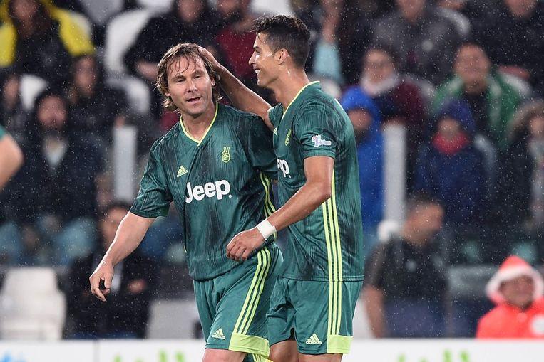 Pavel Nedved en Cristiano Ronaldo.