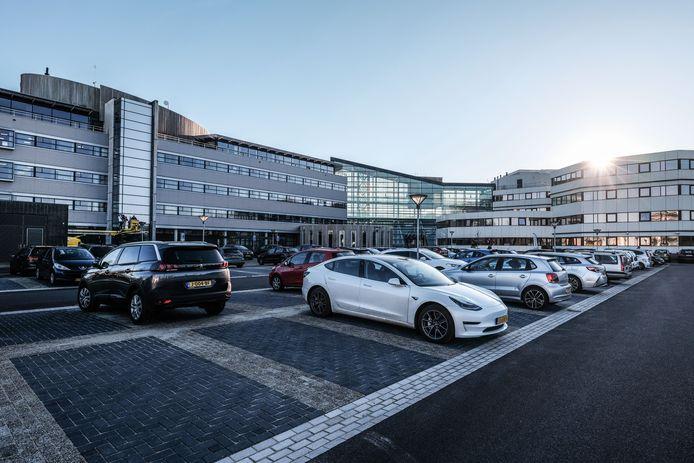 Parkeerplaats van het Hanzepand in Doetinchem.
