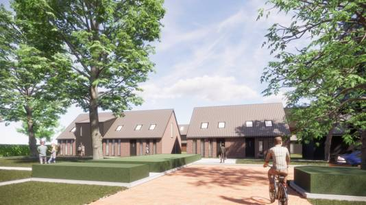 Het hofje met acht huizen voor senioren en starters.