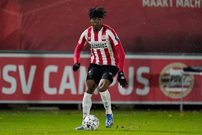 Na de winterstop heeft Noni Madueke bij PSV minuten kunnen maken in de eredivisie.