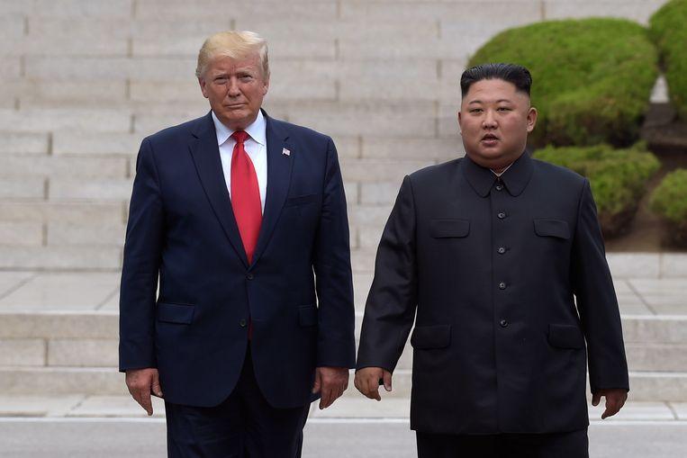 Amerikaans president Donald Trump en Noord-Koreaanse leider Kim Jong-Un.