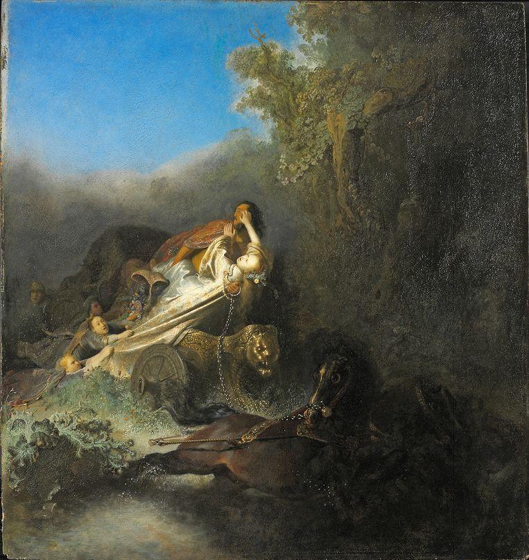 Rembrandt van Rijn, De ontvoering van Proserpina (1630). Beeld  Gemäldegalerie Staatliche Museen Berlijn - Preußischer Kulturbesitz