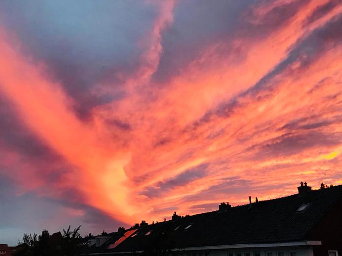 Zonsondergang boven Wipstrik, Zwolle