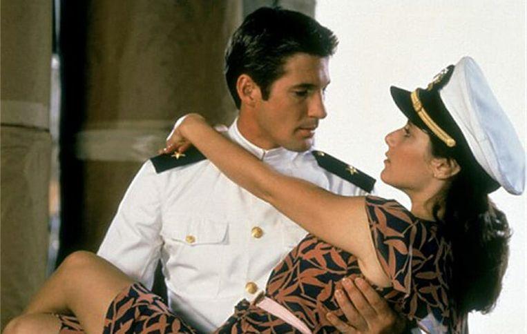 Richard Gere en Debra Winger in An Officer and a Gentleman Beeld ..