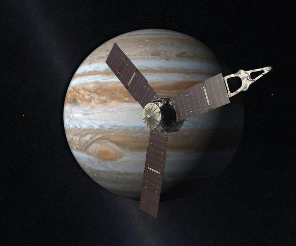 Impressie van de planeet Jupiter.