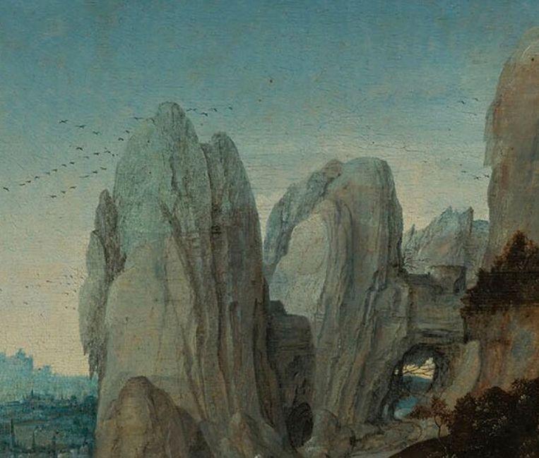 Van mevr. Mieke Lanen, De heilige Hieronymus in een landschap, Joachim Patinir, 1520-30, Museum Boijmans Van Beuningen Rotterdam Beeld Museum Boijmans Van Beuningen Rotterdam