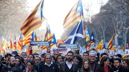 200.000 mensen betogen in Barcelona tegen proces Catalaanse separatisten
