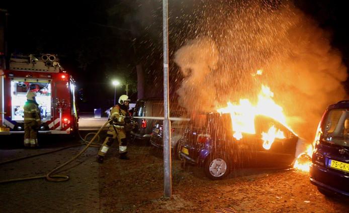 De autobrand in Den Bosch.
