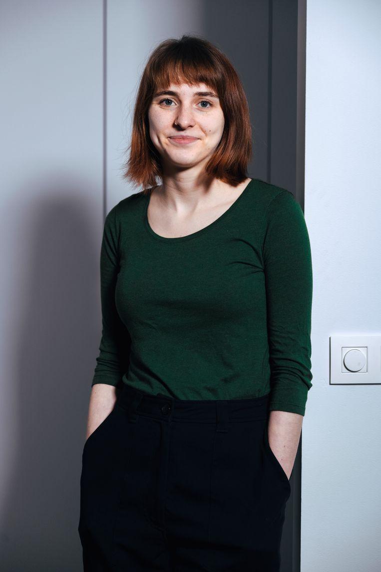 Sophie Van Cauwelaert: 'In mijn opleiding tot vroedvrouw kreeg ik nooit iets te horen over deze vorm van geweld, tot ik het zelf vaststelde tijdens mijn stages.' Beeld Damon De Backer