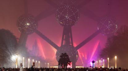 Vuurwerk aan Atomium lokt bijna 60.000 toeschouwers
