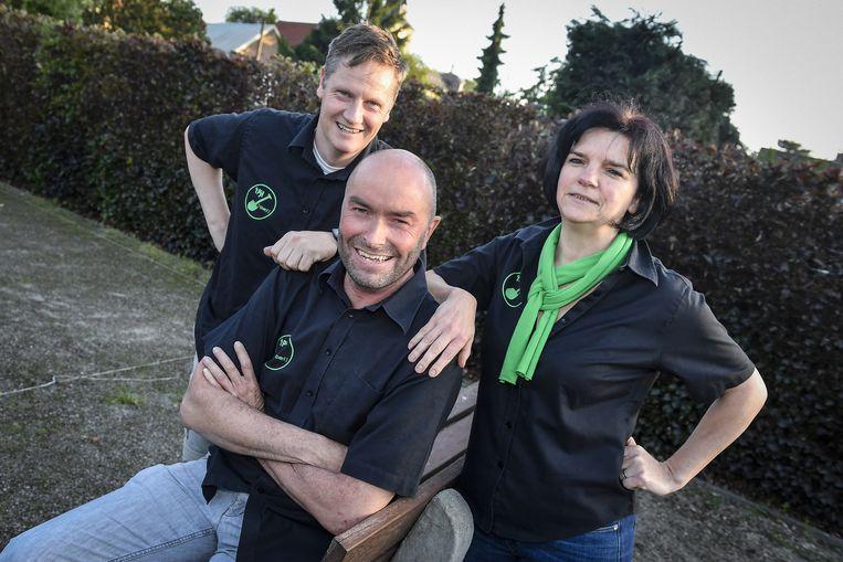 Philippe De Landsheer, Dirk Maes en Christel Verbeke van de organisatie.