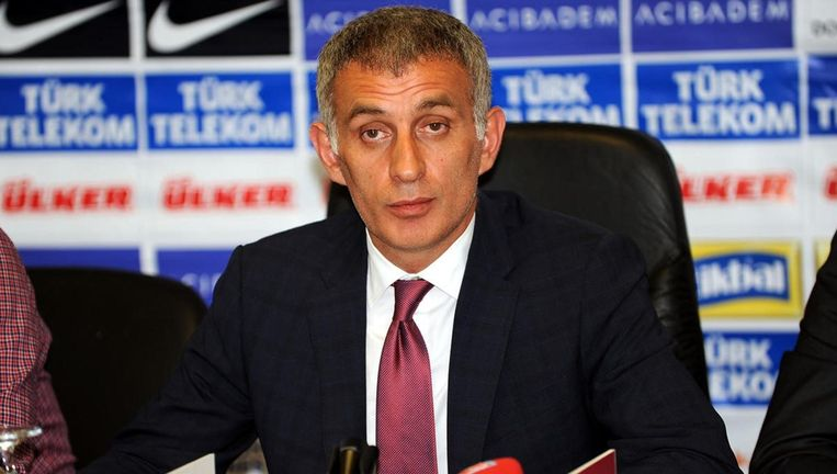Trabzonspor-voorzitter Ibrahim Haciosmanoglu. Beeld AP