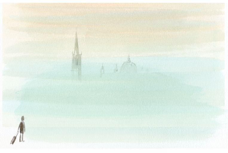 Venetië in de mist. Beeld Claudie de Cleen