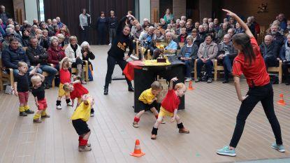 Sportieve kinderen tonen talent aan grootouders