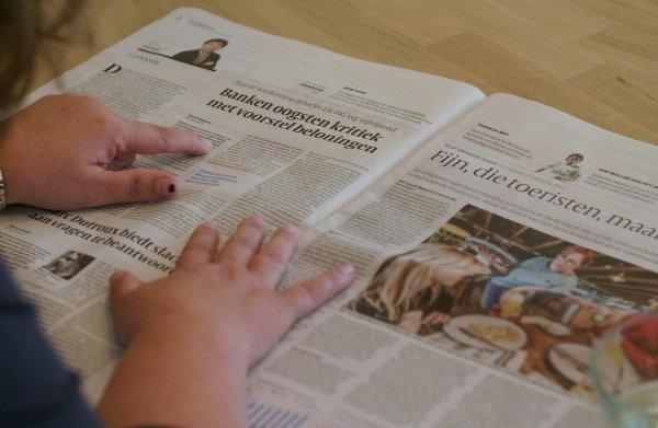 Hoe is het om de krant te lezen als je laaggeletterd bent?