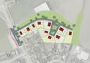 Het beeldkwaliteitsplan voor de 10 woningen aan de noord-oostzijde van Hilvarenbeek. De locatie grenst aan de zuidkant tegen industrieterrein Slibbroek.