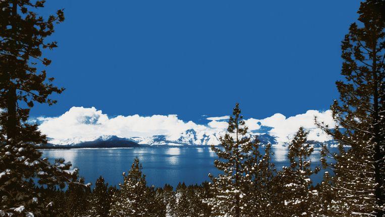 Lake Tahoe, op de grens van Californië en Nevada, in de winter. © Thinkstock Beeld