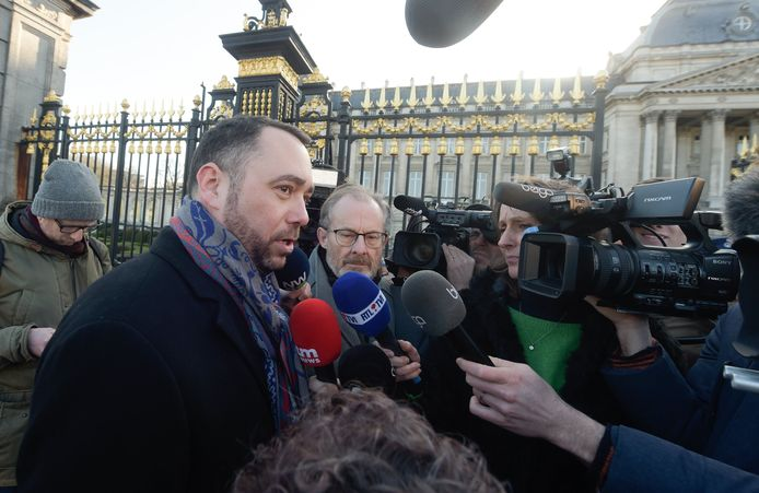 Maxime Prévot chez le Roi Philippe