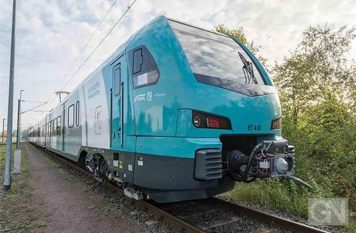 Trein van type flirt van Duitse Eurobahn