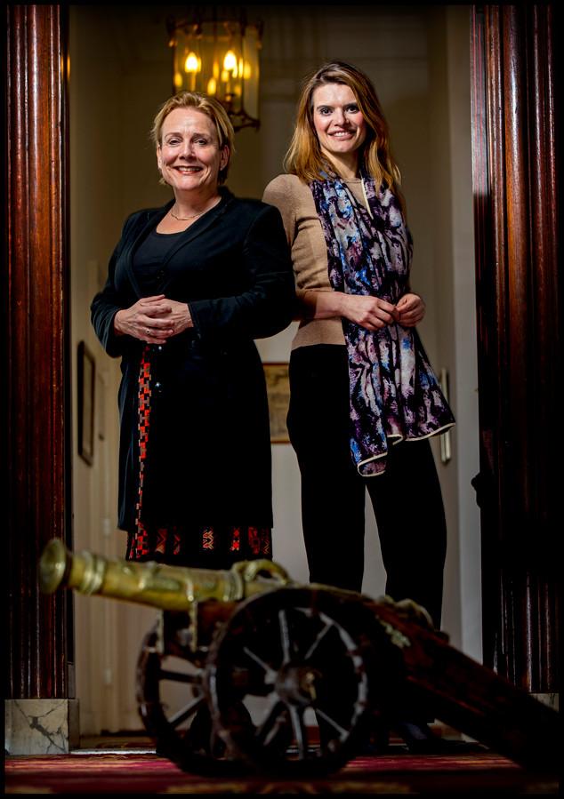 Ank Bijleveld en Barbara Visser
