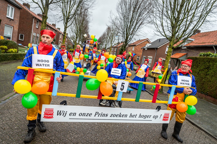 De carnavalsoptocht in Elsendorp.