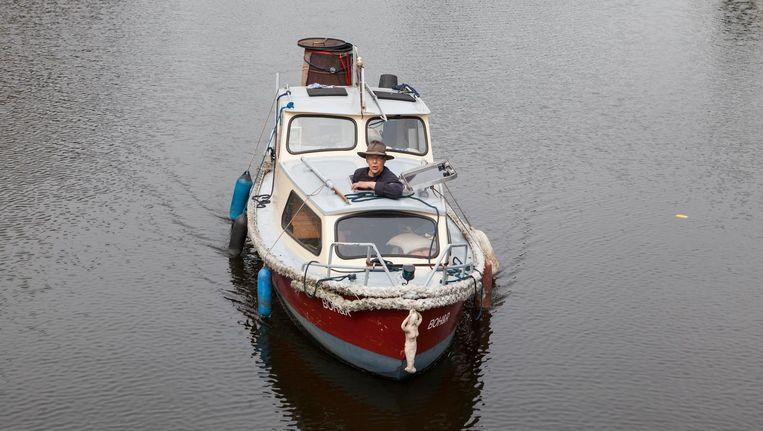 'Ooit was dit heel gewoon. Paling van de boot, handel op de grachten' Beeld Julie Hrudova