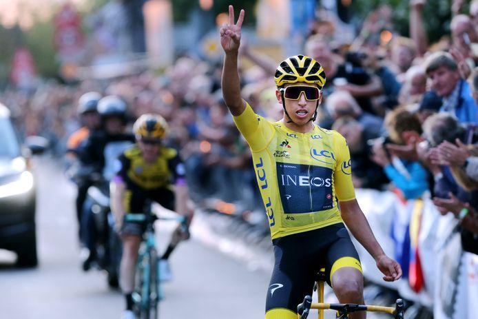 Zo won Egan Bernal als Tourwinnaar vorig jaar de Acht van Chaam.  Op 22 juli dit jaar is hij nog steeds regerend Tourwinnaar.