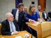 Vlnr: Raymond de Roon (PVV), Mark Harbers (VVD), Carola Schouten (christenuinie), Jeroen Recourt (pvda), Michiel van nispen (SP) en Vera Bergkamp (D66) tijdens het Tweede Kamerdebat over het rapport van de commissie van onderzoek.