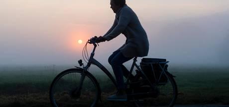 Bibberen op de fiets: koudste nacht in ruim vier maanden