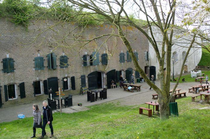 Fort Sabina bij Heijningen is onderdeel van de Stelling van Willemstad, die weer deel uitmaakt van de Zuiderwaterlinie.