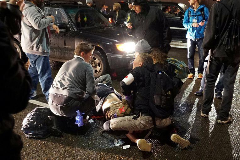 Een man werd neergeschoten tijdens protesten in Portland.